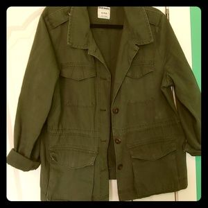 Army Green over shirt